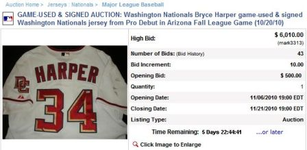 d48bd2f01 (Bryce Harper s first pro jersey is on the auction block. Screengrab of MLB.com  by Nationals Enquirer staff.)