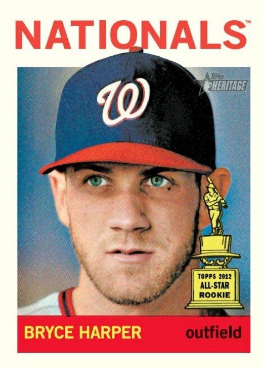 Nats Enquirer Bryce Harper Gets 1964 Topps Baseball Card
