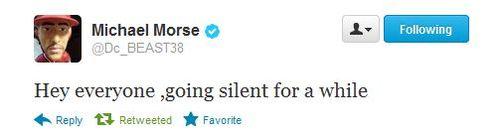 Morse-going-silent-tweet